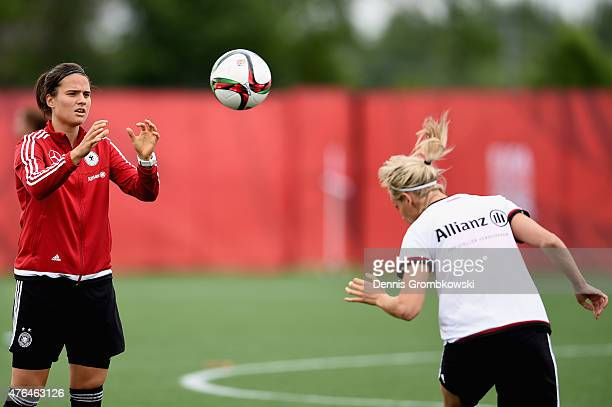 Dzsenifer Maroszan of Germany practices during a training session at Wesley Cover Park on June 9 2015 in Ottawa Canada