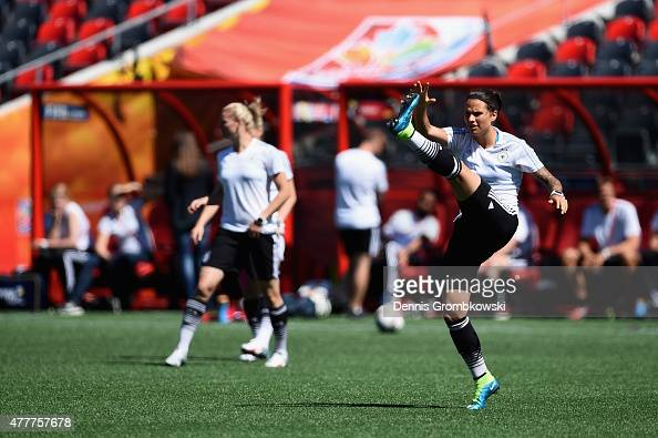 Dzsenifer Marozsan of Germany practices during a training session at Lansdowne Stadium on June 19 2015 in Ottawa Canada