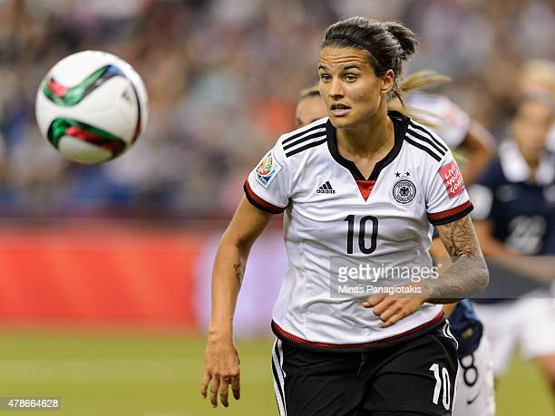 Dzsenifer Marozsan of Germany runs for the ball during the 2015 FIFA Women's World Cup quarter final match against France at Olympic Stadium on June...