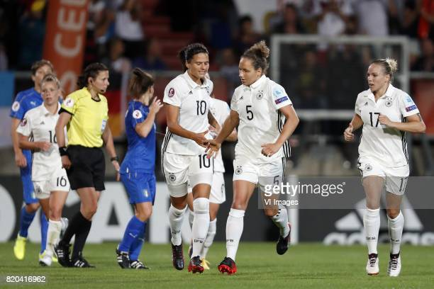 Dzsenifer Marozsan of Germany women Babett Peter of Germany women Linda Dallmann of Germany women during the UEFA WEURO 2017 Group B group stage...