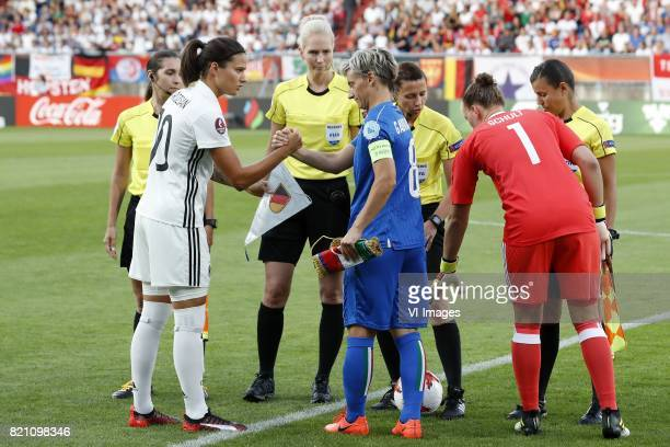 Dzsenifer Marozsan of Germany women Melania Gabbiadini of Italy Women goalkeeper Almuth Schult of Germany women during the UEFA WEURO 2017 Group B...