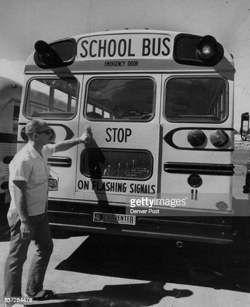 Each Jefferson County school bus gets an inspection each time it goes out or in Here David Lees 17030 W 9th Ave a bus driver inspects the bus to see...