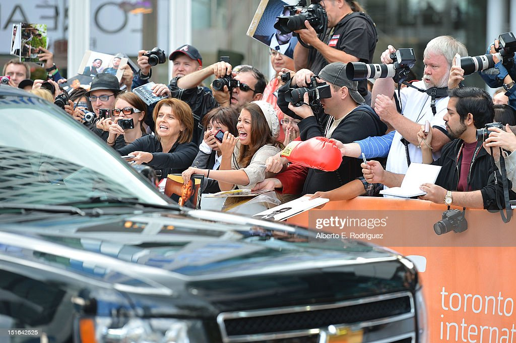 Eager fans await the appearance of stars from the 'Free Angela & All Political Prisoners' premiere during the 2012 Toronto International Film Festival at Roy Thomson Hall on September 9, 2012 in Toronto, Canada.