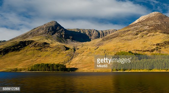 Eagle Crag, Buttermere. : Stock Photo