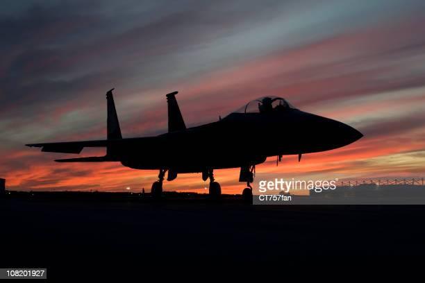 F-15 Eagle fighter plane silhouette