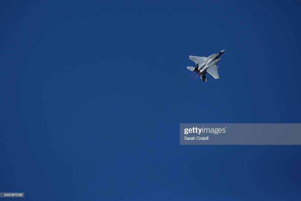 Eagle performs during prerace festivities prior to the NASCAR Sprint Cup Series Toyota/Save Mart 350 at Sonoma Raceway on June 26 2016 in Sonoma...