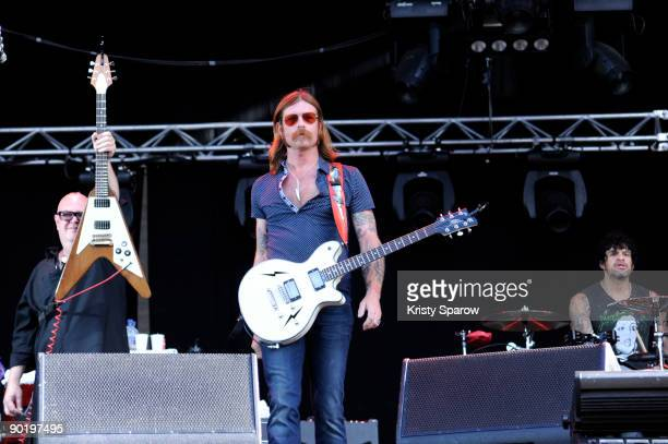 Eagles of Death Metal performing on stage during the Rock en Seine music festival on August 30 2009 in Paris France