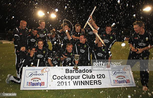 Ealing celebrate their win over Chester le Street after the Final of the Cockspur Club Twenty20 Finals Day at Ford County Ground on September 19 2011...