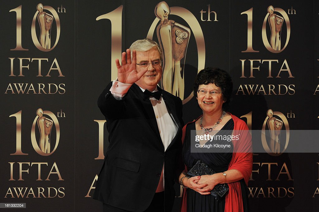 Eamon Gilmore and Carol Hanney attends the Irish Film and Television Awards at Convention Centre Dublin on February 9, 2013 in Dublin, Ireland.