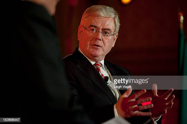 Eamon Gilmore Deputy Prime Minister of Ireland speaks during the second annual Concordia Summit at The Plaza Hotel on September 27 2012 in New York...