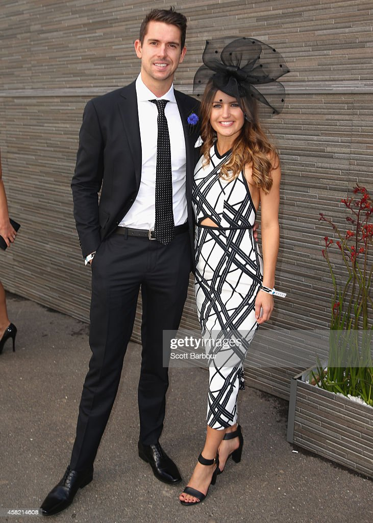 <a gi-track='captionPersonalityLinkClicked' href=/galleries/search?phrase=Eamon+Sullivan&family=editorial&specificpeople=769294 ng-click='$event.stopPropagation()'>Eamon Sullivan</a> and Naomi Bass attend Derby Day at Flemington Racecourse on November 1, 2014 in Melbourne, Australia.
