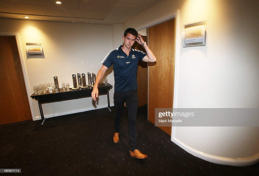 <a gi-track='captionPersonalityLinkClicked' href=/galleries/search?phrase=Eamon+Sullivan&family=editorial&specificpeople=769294 ng-click='$event.stopPropagation()'>Eamon Sullivan</a> departs after a Swimming Australia press conference at the Novotel Rockford on February 22, 2013 in Sydney, Australia.
