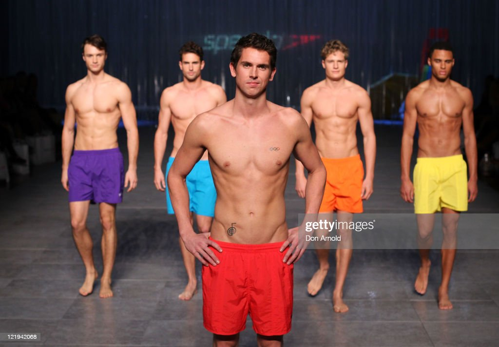 <a gi-track='captionPersonalityLinkClicked' href=/galleries/search?phrase=Eamon+Sullivan&family=editorial&specificpeople=769294 ng-click='$event.stopPropagation()'>Eamon Sullivan</a> showcases designs on the catwalk by Speedo as part of Mercedes Benz Fashion Festival Sydney 2011 at Sydney Town Hall on August 24, 2011 in Sydney, Australia.