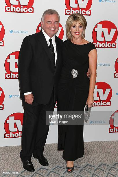 Eamonn Holmes and Ruth Langsford arrive for the TVChoice Awards at The Dorchester on September 5 2016 in London England