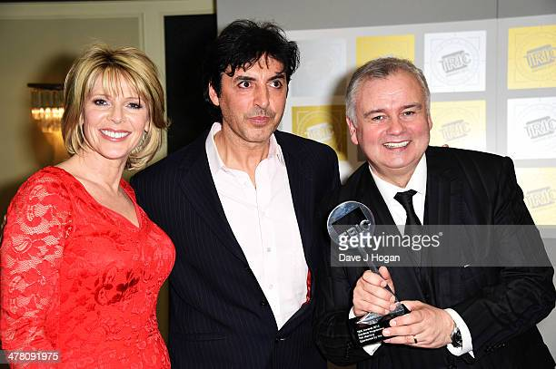Eamonn Holmes and Ruth Langsford pose in the winners room at the TRIC awards 2014 at the Grosvenor House Hotel on March 11 2014 in London England