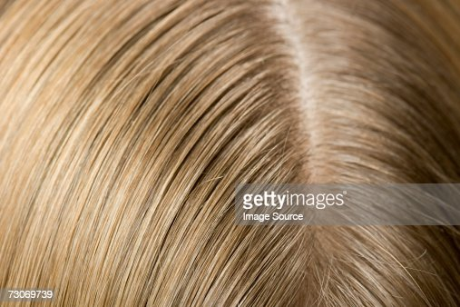 Ear and hair of a woman