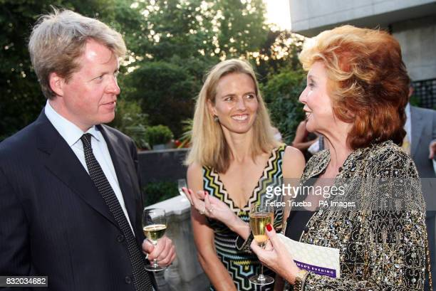 Earl and Countess Spencer talk to Cilla Black at the A Summer's Evening party hosted by the Earl Countess Spencer in aid of the Sir Cliff Richard...