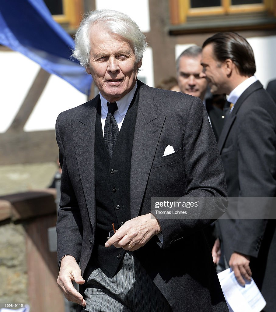 Earl Anton Wolfgang von Faber-Castell attends the funeral service for Moritz Landgrave of Hesse at Johanniskirche on June 3, 2013 in Kronberg, Germany. Moritz of Hesse died aged 86 years on May 23 in Frankfurt. A great-grandson of the Emperor Frederick III and great-grandson of Queen Victoria, he was related to many European royal families.