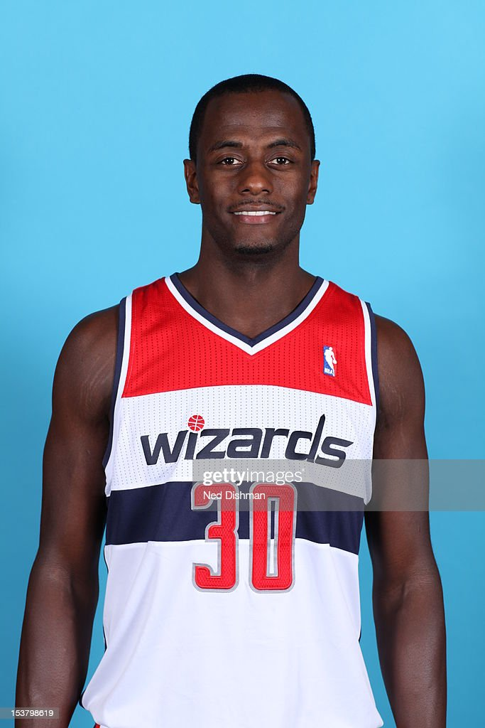 <a gi-track='captionPersonalityLinkClicked' href=/galleries/search?phrase=Earl+Barron&family=editorial&specificpeople=234747 ng-click='$event.stopPropagation()'>Earl Barron</a> #30 of the Washington Wizards poses for a portrait during 2012 NBA Media Day at the Verizon Center on October 1, 2012 in Washington, DC.