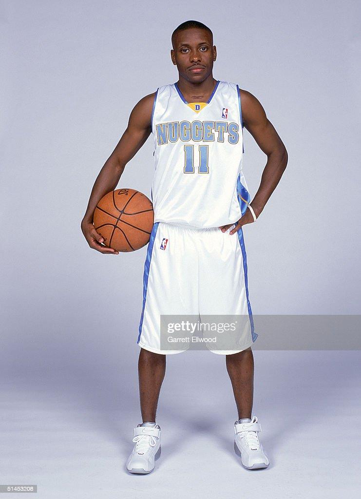 Earl Boykins #11 of the Denver Nuggets pose for a portrait during NBA Media Day on October 4, 2004 in Denver, Colorado.