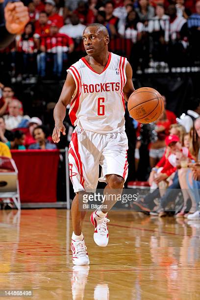 Earl Boykins of the Houston Rockets controls the ball against the Indiana Pacers on April 1 2012 at the Toyota Center in Houston Texas NOTE TO USER...