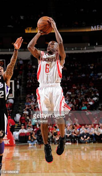 Earl Boykins of the Houston Rockets goes for a jump shot during the game between the Houston Rockets and the Sacramento Kings on March 26 2012 at the...