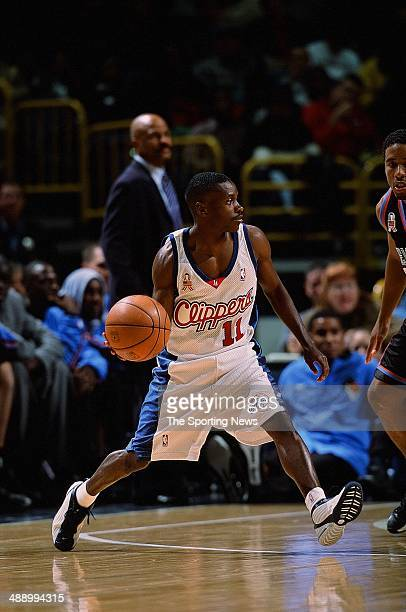 Earl Boykins of the Los Angeles Clippers handles the ball during the preseason game against the Cleveland Cavaliers on October 16 2001 at Staples...