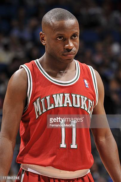 Earl Boykins of the Milwakee Bucks during the game against the Orlando Magic on April 5 2011 at the Amway Center in Orlando Florida NOTE TO USER User...