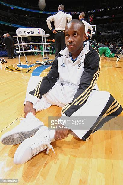 Earl Boykins of the Washington Wizards stretches prior to the game against the Boston Celtics at the Verizon Center on December 10 2009 in Washington...