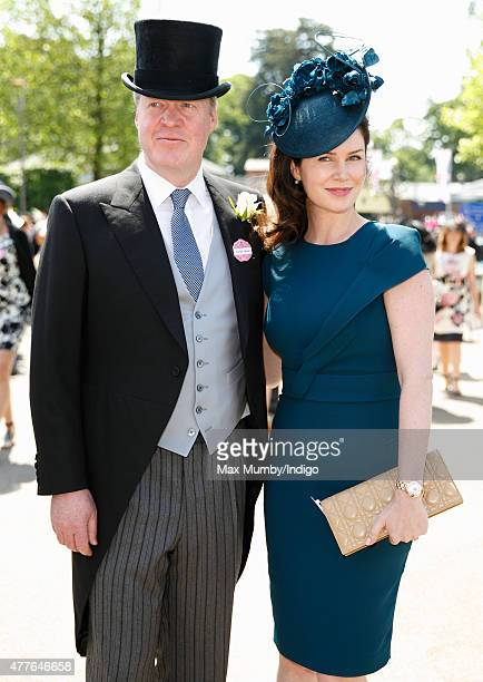 Earl Charles Spencer and Countess Karen Spencer attend day 3 Ladies Day of Royal Ascot at Ascot Racecourse on June 18 2015 in Ascot England