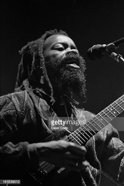 Earl 'Chinna' Smith performs on stage at The Astoria Theatre London supporting Augustus Pablo on 22th November 1987