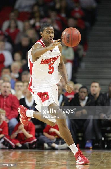 Earl Clark of the Louisville Cardinals moves for the ball during the game against the Northeastern Huskies on December 27 2006 at Freedom Hall in...