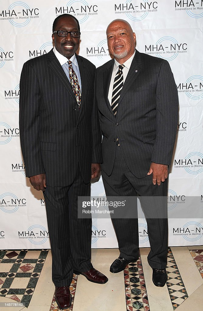 Earl Monroe (L) and AB Whitfield attend Bridges To Mental Health: A Celebration Of Hope Gala at Cipriani 42nd Street on June 5, 2012 in New York City.