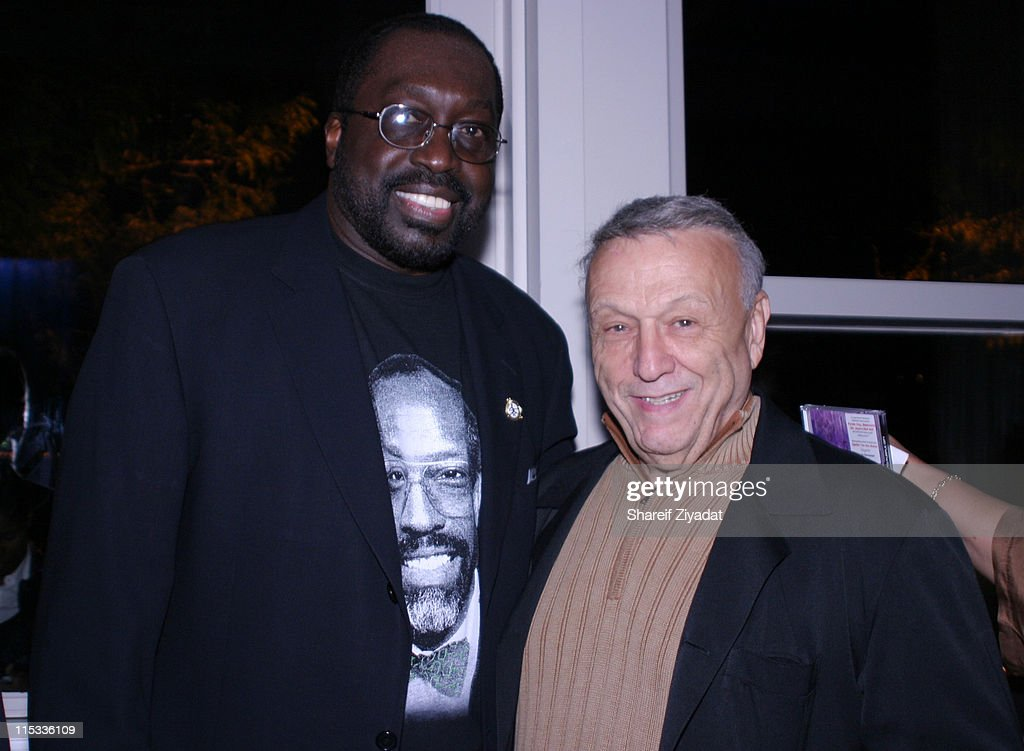 Earl Monroe and Bert Padell during Grand Opening of Earl Monroe's Restaurant in New York City October 31 2005 at Earl Monroe's in New York City New...