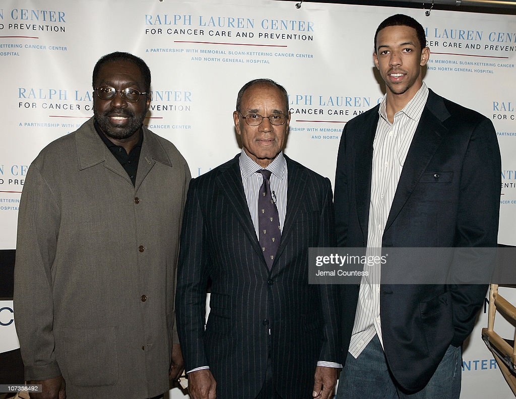 Earl Monroe Dr Harold Freeman President and founder of The Ralph Lauren Center for Cancer Care and Prevention and Channing Frye