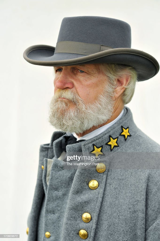 Earl R. Weaver, 65, of Annville, PA poses for a portrait as he portrays Confederate General Robert E. Lee on Tuesday July 02, 2013 in Gettysburg, PA. People have flocked to the town to commemorate the 150th anniversary of the Battle of Gettysburg. The battle is considered a turning point in the Civil War.