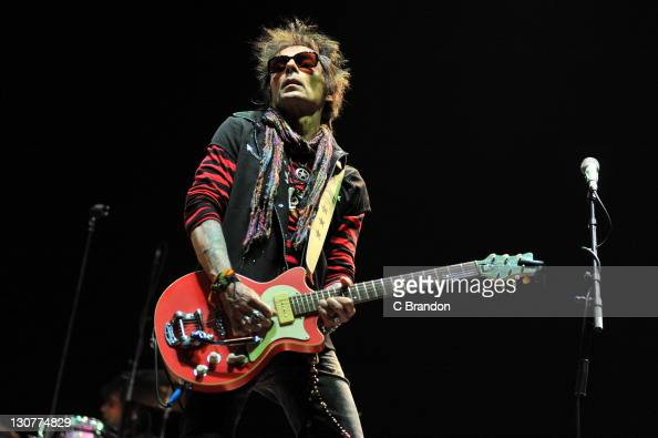 Earl Slick of New York Dolls performs on stage at Alexandra Palace on October 29 2011 in London United Kingdom