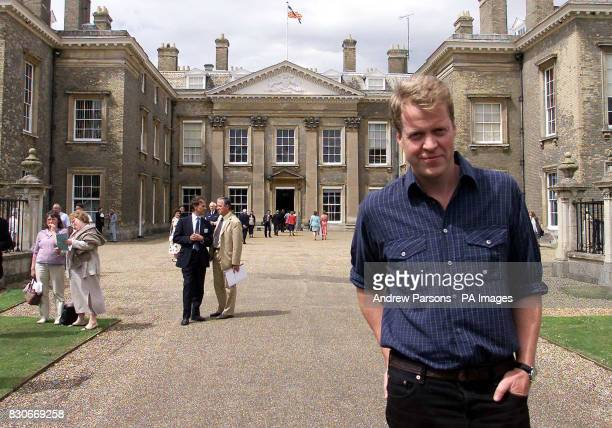Earl Spencer stands outside Althorp the family Home near Northampton The house is due to open to the public on Sunday the day that would have been...