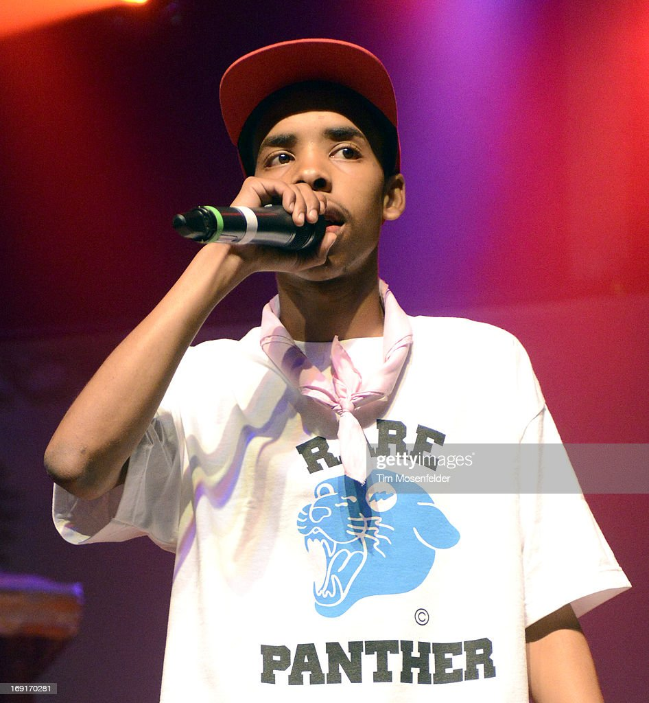 Earl Sweatshirt of Tyler, The Creator & Earl Sweatshirt performs in support of Tyler's 'The Wolf' release at The Regency Ballroom on May 20, 2013 in San Francisco, California.