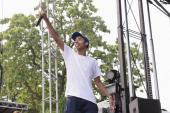Earl Sweatshirt performs on stage at Pitchfork Music Festival at Union Park on July 20 2014 in Chicago United States