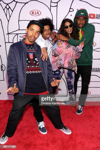 Earl Sweatshirt Taco Bennett MIA and Tyler The Creator attend the YouTube Music Awards 2013 on November 3 2013 in New York City