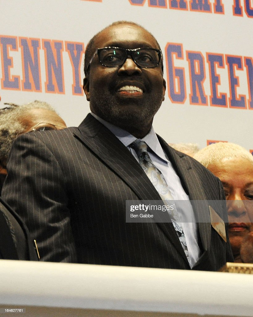 Earl 'The Pearl' Monroe visits the New York Stock Exchange and Ring The Closing Bell to Highlight the Crown Heights Youth Collective on March 25, 2013 in New York City.