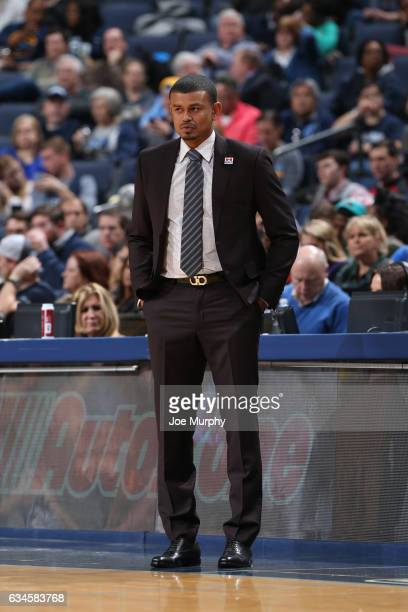 Earl Watson of the Phoenix Suns coaches against the Memphis Grizzlies on February 8 2017 at FedExForum in Memphis Tennessee NOTE TO USER User...