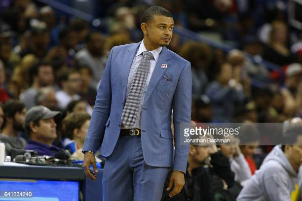 Earl Watson of the Phoenix Suns reacts during a game at the Smoothie King Center on February 6 2017 in New Orleans Louisiana NOTE TO USER User...