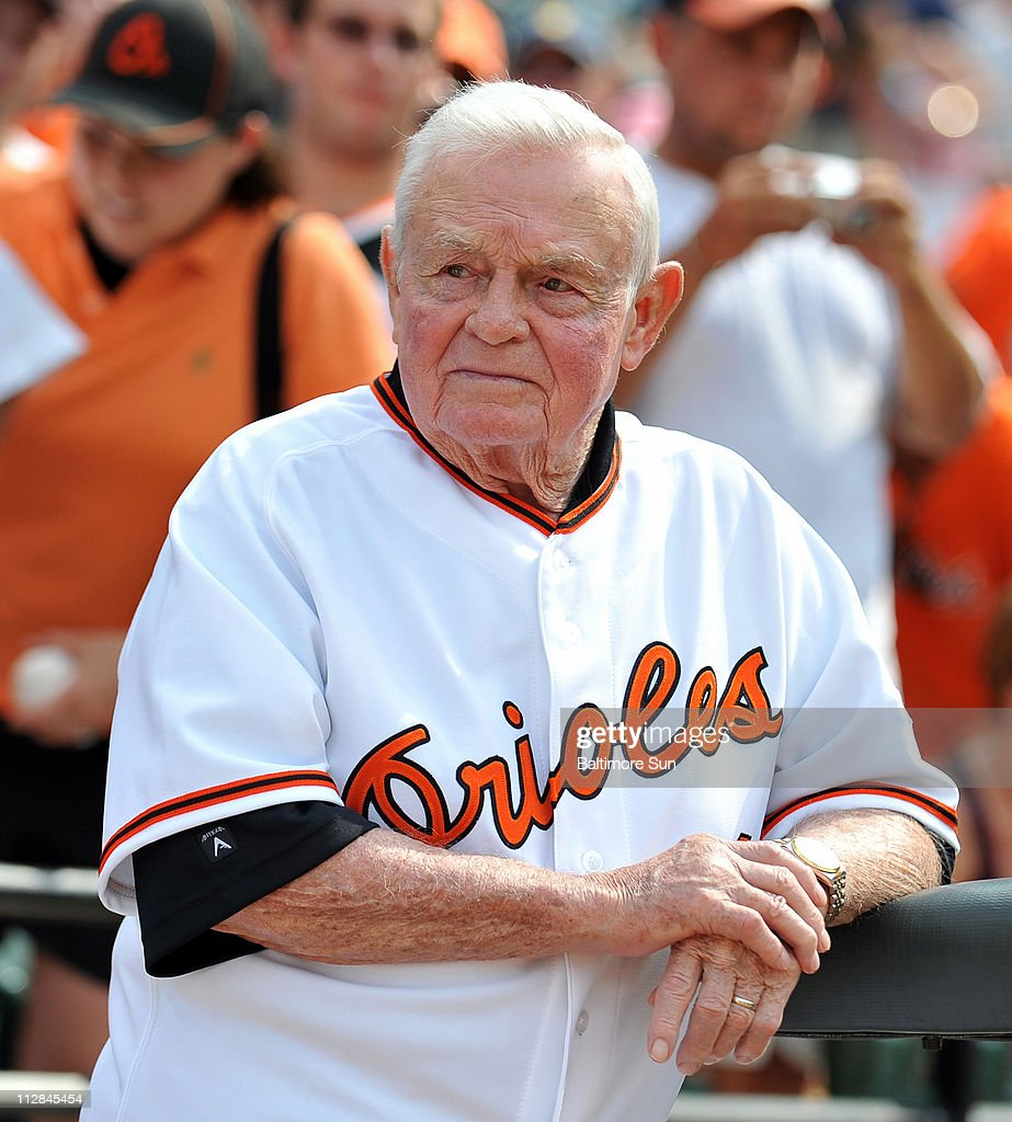 Earl Weaver, Manager of the 1970 World Champion Baltimore Orioles, attends a ceremony celebrating the 40th anniversary of the championship, prior to the Orioles game against the Washington Nationals at Oriole Park at Camden Yards in Baltimore, Maryland, Saturday, June 26, 2010. The Orioles defeated the Nationals, 6-5.