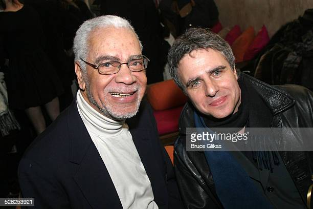 Earle Hyman and Neil Pepe director during Atlantic Theater Company Presents Harold Pinter's Celebration The Room Broadway Opening Night at Earth in...