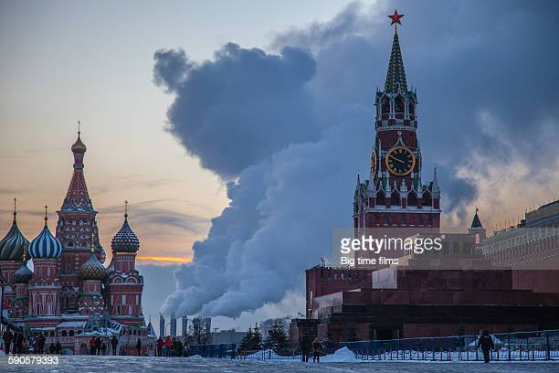 Earlier winter morning on the Red Square