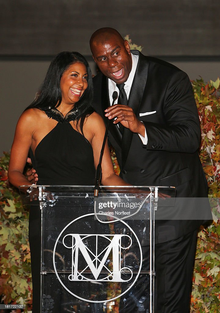 Earlitha 'Cookie' Johnson and her husband Earvin 'Magic' Johnson Jr. attend 2013 Multicultural Gala: An Evening Of Many Cultures at Metropolitan Museum of Art on September 23, 2013 in New York City.