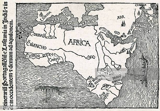 Early 16th Century Portuguese map of Africa