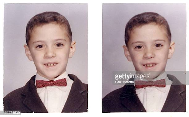Early 1960s photo of young boy with bow tie